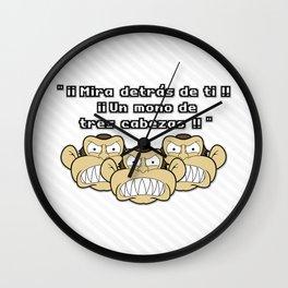 Ese mono de 3 cabezas Wall Clock