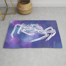 Crabby Electrified Skeleton Under the Sea Rug