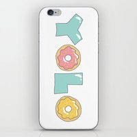 doughnut iPhone & iPod Skins featuring Doughnut Yolo by MOJA