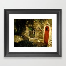 The Monastic Rock Hut of Elder Gerasimos of Kephalonia, Mount Athos Framed Art Print