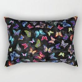 Butterfly Forest {black} Rectangular Pillow