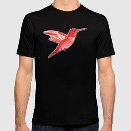 Red hummingbird colibri. T-shirt