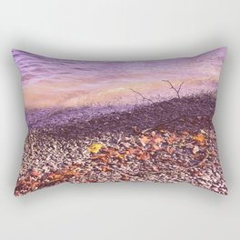 Lake Windermere Shore, The Lake District - Nature Photography Rectangular Pillow