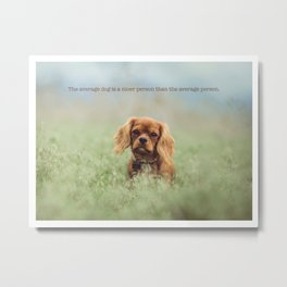 Cute puppy poster Metal Print