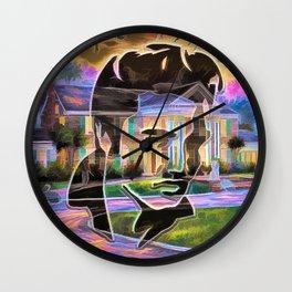 The King at Home Wall Clock