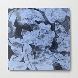 DISTRESSED FLORAL Metal Print