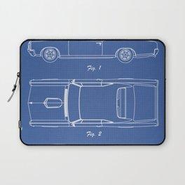 PONTIAC GTO patent print, pontiac gto poster, muscle car decor, pontiac gto blueprint Laptop Sleeve