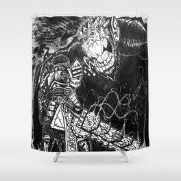 The Junkyard Knight Shower Curtain