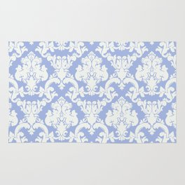 wedgewood blue damask Rug