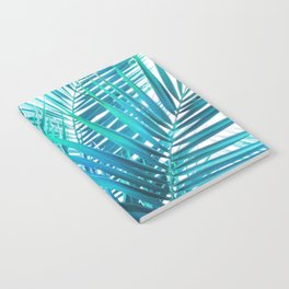 Turquoise Palm Leaves Notebook