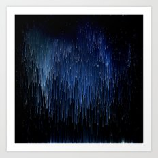 Planet Pixel Solar Rain Art Print