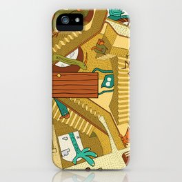 Monsters on Stairs iPhone Case