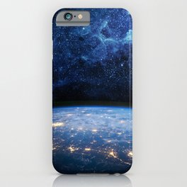 Earth and Galaxy iPhone Case