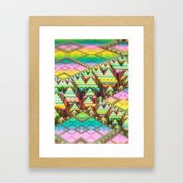 infrastructure. 3d Abstract Art Framed Art Print