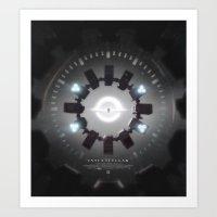 movie poster Art Prints featuring INTERSTELLAR movie poster by yurishwedoff