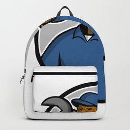 African American Mechanic Mascot Backpack