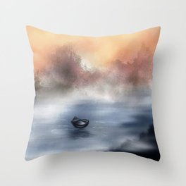 The Lake of Tranquility Throw Pillow