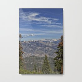 Kings Canyon, California from Sequoia National Park Metal Print