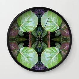 Sea Grapes Pattern Wall Clock