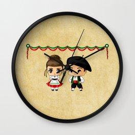 Italian Chibis Wall Clock