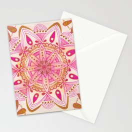 Simple Gold Madala Stationery Cards