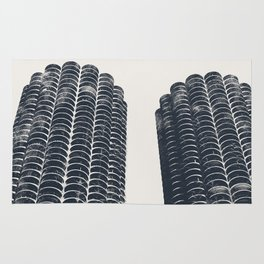 Chicago Architecture, Marina City, Chicago Wall Art, Chicago Art, Chicago Photography, Canvas Art Rug