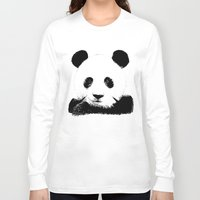 red panda Long Sleeve T-shirts featuring Red Panda by Laura Brightwood