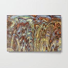 Scramble - Digital Abstract Expressionism Metal Print