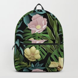 Boho styled summer floral with tulips & flowers Backpack