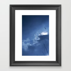 float with the tide Framed Art Print
