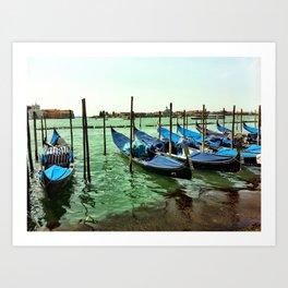 Gondolas Venice Art Print