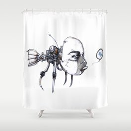 idiotfish Shower Curtain