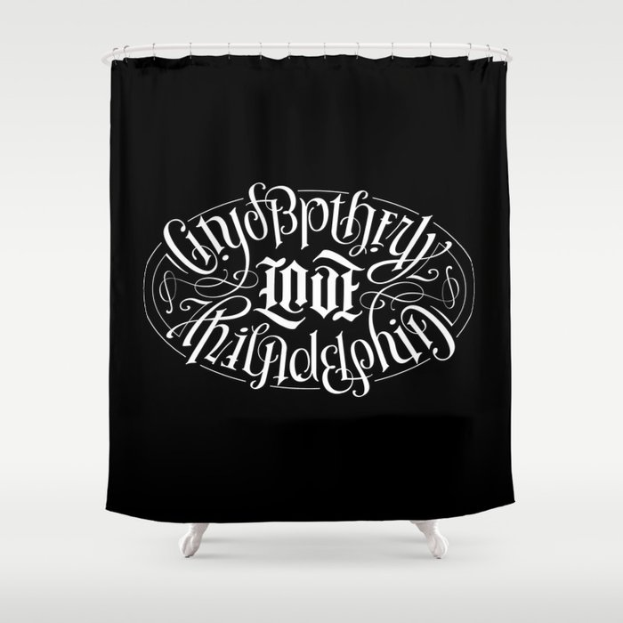 City of Brotherly Love Shower Curtain