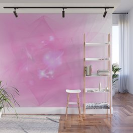 Folds In Pink Wall Mural