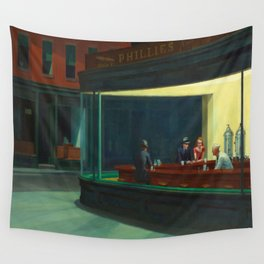 Edward Hopper's Nighthawks Wall Tapestry