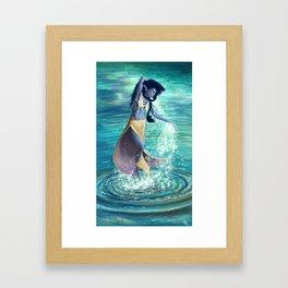 Water dance Framed Art Print