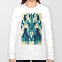 batik Long Sleeve T-shirts featuring BATIK BLUE  by LA BOITE À POUE / Helene Favreau