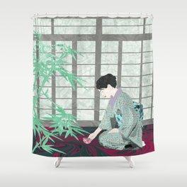 Matcha in Kintsugi by the Shoji Shower Curtain
