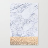 marble Canvas Prints featuring MARBLE by Monika Strigel