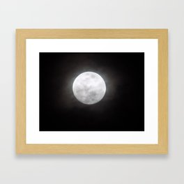 Hazy Moonlight Framed Art Print