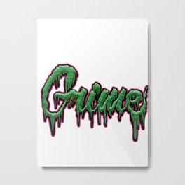 Grime Text Metal Print