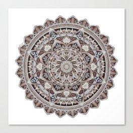 Copper Geo-Circle White Background  Canvas Print