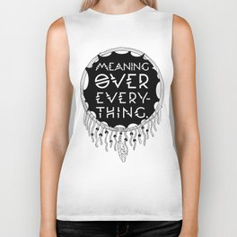 "Native Shield / Dream Catcher ""Meaning Over Everything"" Biker Tank"