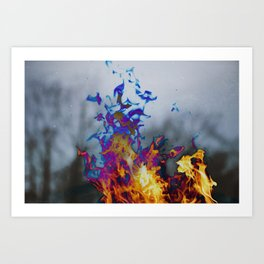 Fire II Art Print