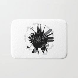 Barcelona World with significant buildings Bath Mat