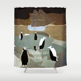 Guests arrive 3 Shower Curtain