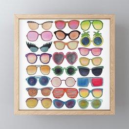 Sunglasses by Veronique de Jong Framed Mini Art Print