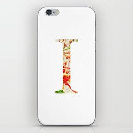 "Initial letter ""I"" iPhone Skin"