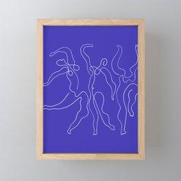 Picasso Line Art - Dancers - Blue Background Framed Mini Art Print