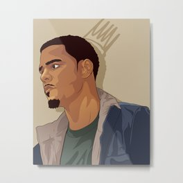 J.Cole Metal Print